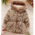 Arrowhunt Baby Girls Princess Faux Fur Winter Warm Leopard Coat