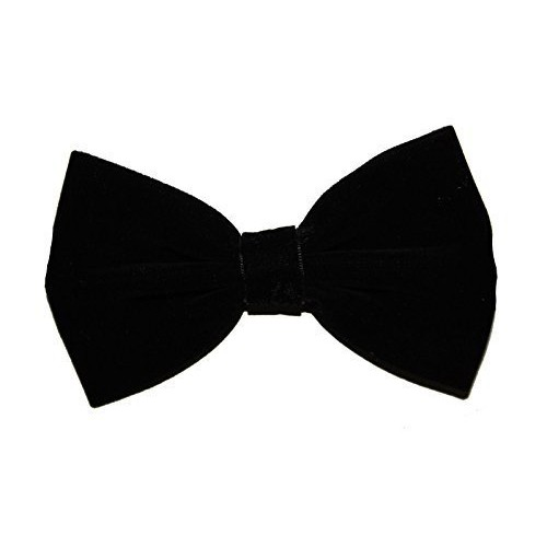 Mens Boys Bow Tie Bowtie Ties Velvet Satin Trendy Black White Red Purple Blue